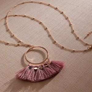 Torrid Rose-Pink Tassel Necklace